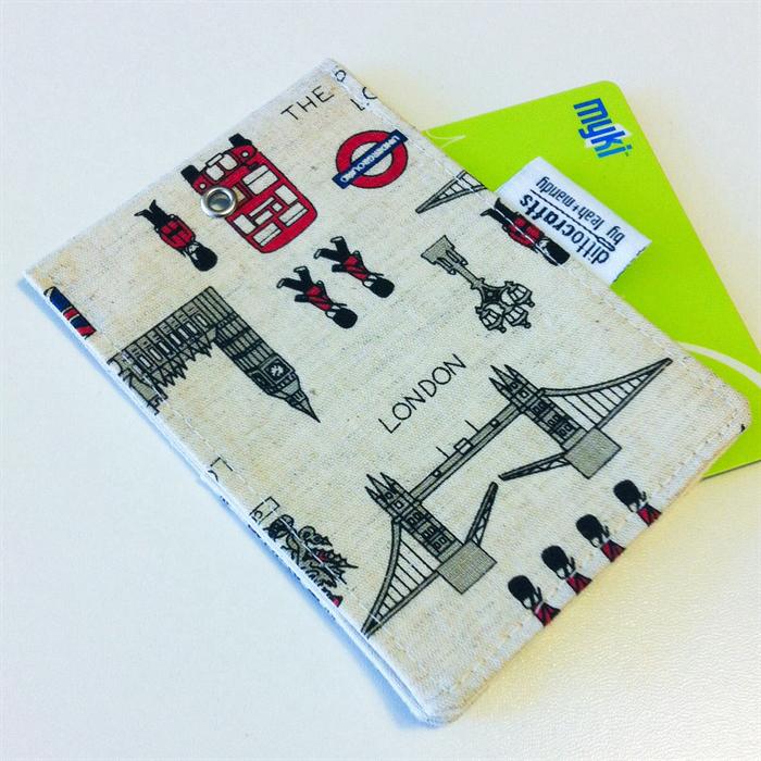 Myki  Travel Pass  Id Holder - London  Ditto Crafts -9711