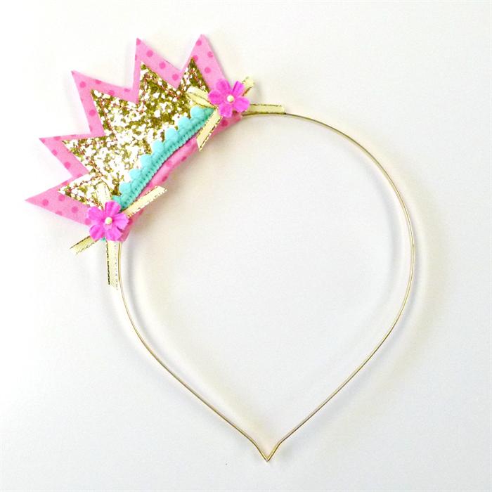 Gold Glitter Pink Aqua
