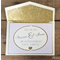 Lilac and Glitter Gold Save the Date Invitation