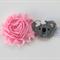 Shabby chic flower and koala headband
