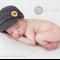 Classic Newsboy Cap / Newborn Photography Prop / Wooden Buttons / Grey