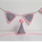 Photo Prop Crochet Party Hat and Bunting in Grey and Light Pink