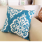 Indigo Blue Designer Contemporary Beach Cushion 50cm