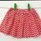 Size 2 Girl's Skirt Pink Chevron Stripes