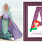 Mermaid Decor Wall Print customised with your child's name