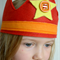 Red Felt Star Crown