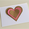 White, Kraft and Pink Heart Flutter Card