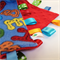 ALPHABET SOUP   Baby Security Blanket Blankie Taggie Toy + FREE Taggie Saver