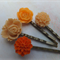 Orange Delight Vintage Style Hair Clips-4 hair clips