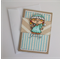 Christmas Card - Girl with Candy Cane- Non-traditional colours - Branches
