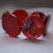 Cherry Red Resin Beaded Bracelet.