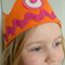 Orange and Pink Felt Play Crown