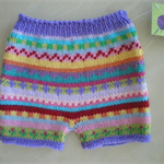 Boho nappy cover - size 3 months - hand knitted