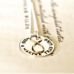 Eternity Necklace Wife Wedding Gift Hand Stamped Names Jewellery Anniversary