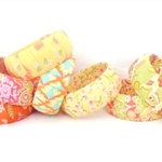Clearance sale Fabric Bangles, bracelet.Choose a fabric.Orange Green