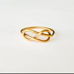 Infinity ring, 14k Gold ring