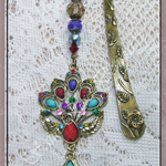 Boho gem & beaded bookmark