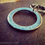 Fathers Day Stainless Steel Personalized Key Ring - Single Sided Stamping Only
