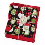 Stroller blanket - Apple design with red minky. Great unisex baby shower gift!