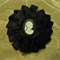 Hair Domayne black hair clip with black and white cameo in centre