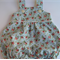 Girls floral bubble overalls - roses, baby gift, summer, flowers, rompers