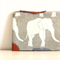 Happy Elephant Travel pouch wallet / zipper purse/ travel purse/ passport holder