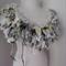 Hand Spun Naturals Recycled Silk Bulky Art Yarn hand Knit Chunky Scarf Collar