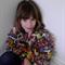 Hand Spun Bulky Art Yarn hand Knit little girls crop jacket size 8 - 10 years