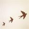 Flying Swallows - Wooden Set of Three - Laser Cut Wall Art