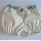 Baby girl bloomers - nappy cover, flowers, roses, shabby, yoyo button