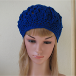 Bright blue beret