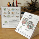 2015 Desktop Art Calendar - Australian threatened species - animals birds