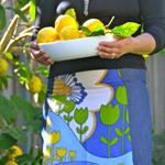 A line 4 panel skirt with bias binding around waist.