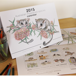 2015 Wall Art Calendar - Australian threatened species - wildlife animals birds