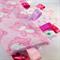 SNUGGLY SOFT PINK TEDDIES Baby Girls Security Blanket Blankie Taggie Toy