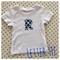 Fitted white tee letter alphabet tee chevron  000 newborn