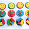 12 x Edible Lego Cupcake Decorations