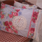 Blue and Fuchsia Floral Vintage Vibe Pillow Slip
