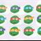 12 Ninja Turtle Edible Cupcake Toppers