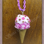 Funky Ice-Cream 'Polymer Clay' Necklace