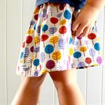 autumn trees   little girl skirt   organic cotton   size 3