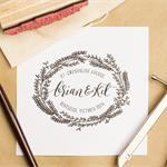 Custom Calligraphy 'Garland' Address Stamp, made to order