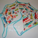ready set go race cars 7 flag bunting perfect for boys bedroom playroom