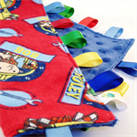 BOB THE BUILDER -  Baby Security Blanket Taggie / Taggy Toy Comforter