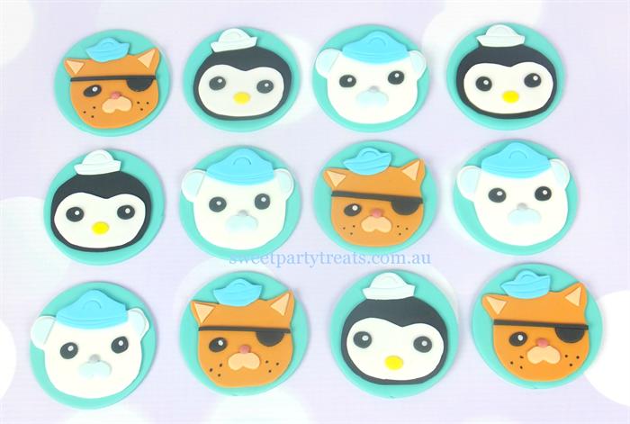 12 X Octonauts Edible Cupcake Decorations Sweet Party
