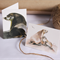 4 Gift Cards Mini size - Sea Lions (Australian wildlife, seals, mother, baby)