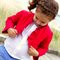 girls bolero jacket - red ruffled bolero