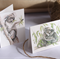 4 Gift Cards Mini size - Koalas (Australian wildlife, Mother & child)