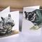 4 Mini Gift Cards - Possum and Wombat (Australia wildlife, Leadbeater's Possum)