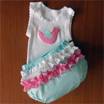 Nappy Pants and Singlet Set  -  000-1